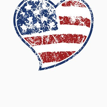 Patriotic Heart by WickedCool