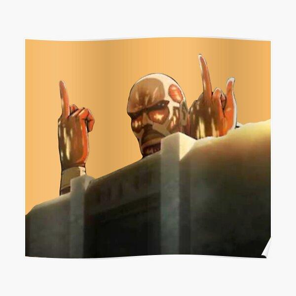Colossal Titan Attack on Titans (SnK) Funny Design Poster