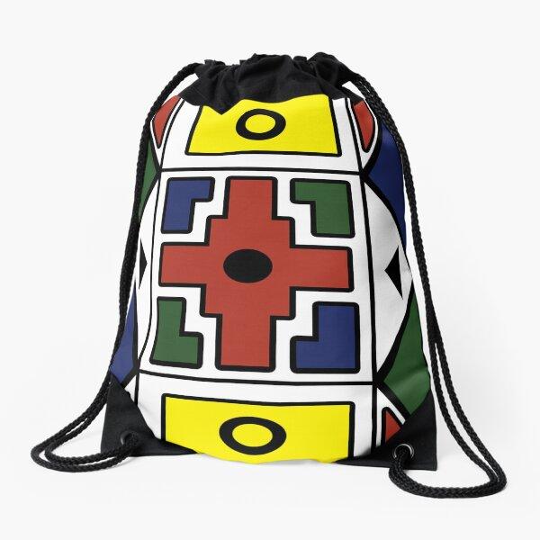 Ndebele Ethnic Pattern  Drawstring Bag