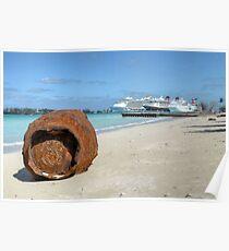 A gift from Hurricane Sandy on Junkanoo Beach in Nassau, The Bahamas Poster