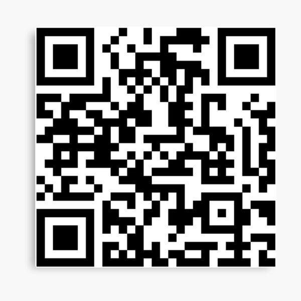 Skyrim Theme Song QR Code Canvas Print