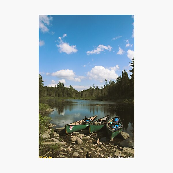 Canoes in Algonquin Park Photographic Print