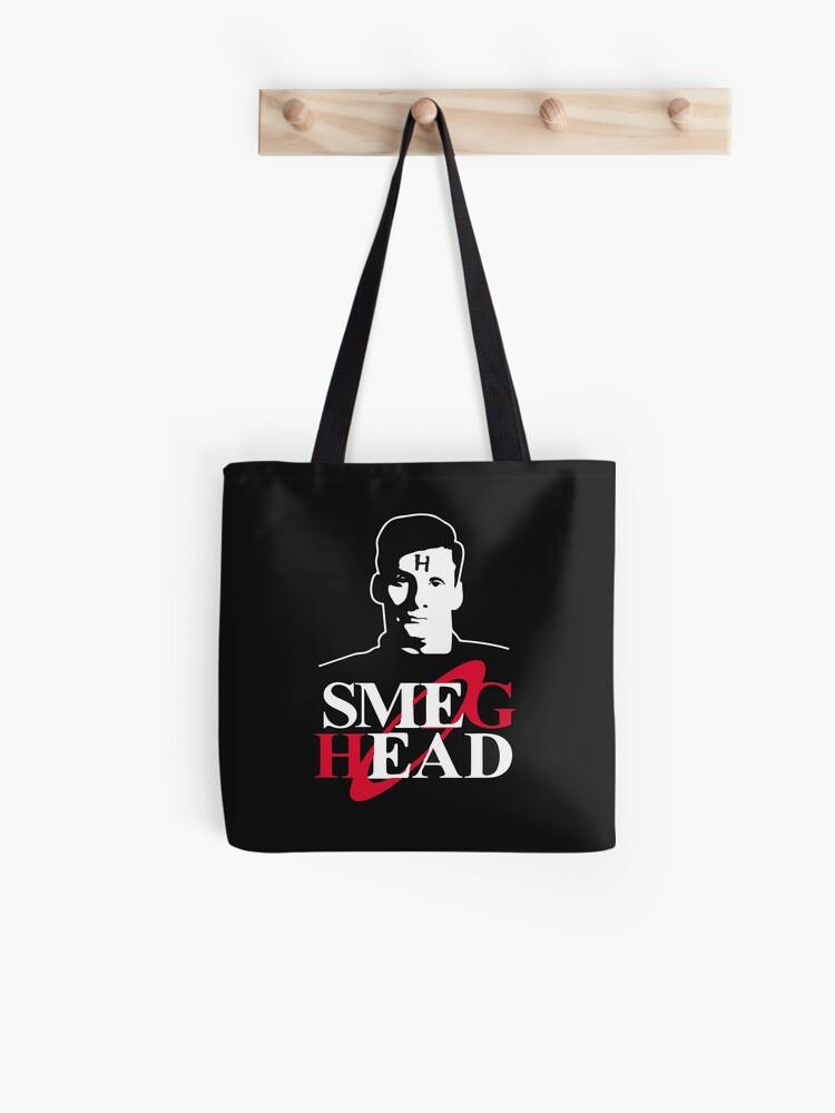 Red Dwark Smeg Head tv series inspired tote bag long handles shoulder