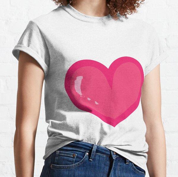 Corazón rosado lindo Camiseta clásica