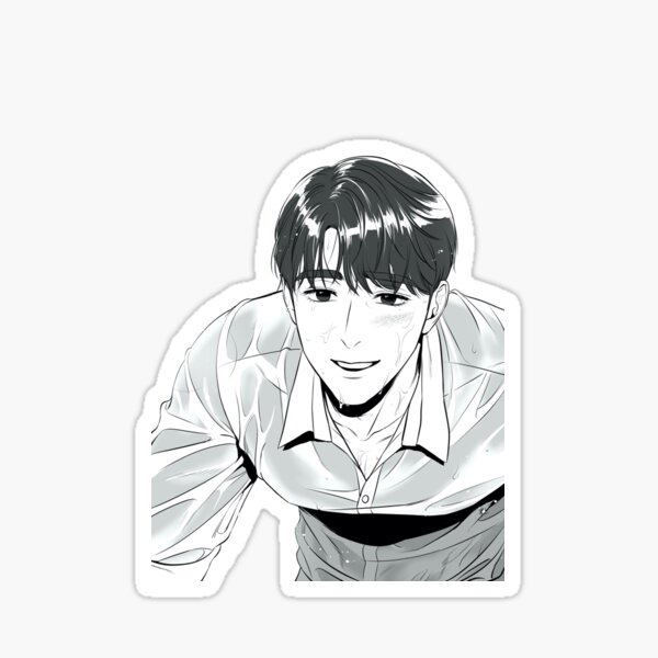 Kim Myung-dae with his hair down Sticker