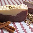 Cinnamon & Oatmeal Goats Milk Soap by Kathy Reid