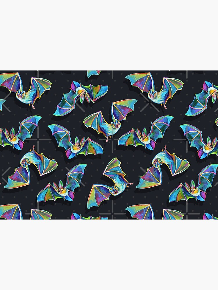 Psychedelic Bat Pattern by Robert Phelps by RobertPhelpsArt