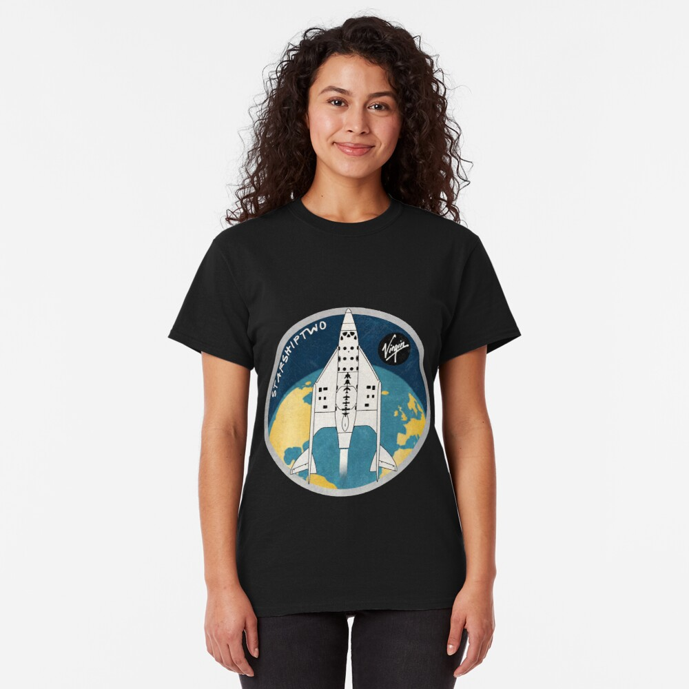 StarShipTwo (Virgin) Badge Classic T-Shirt