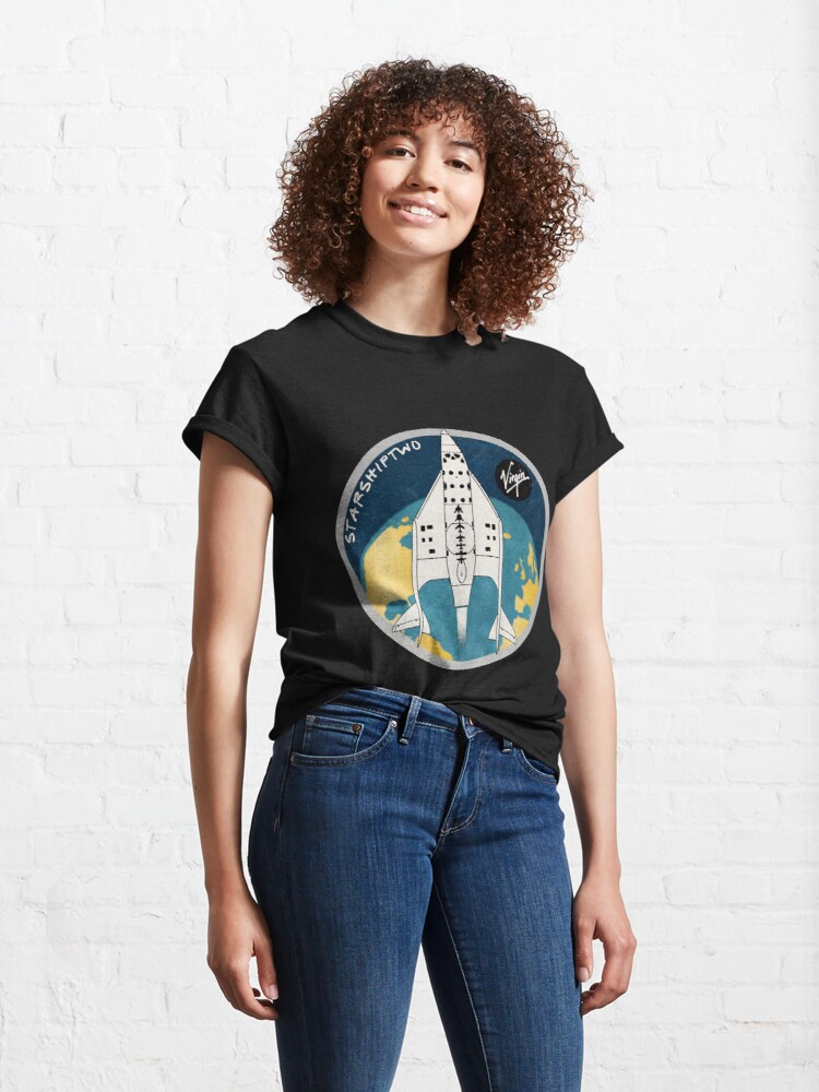 Alternate view of StarShipTwo (Virgin) Badge Classic T-Shirt