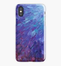 SCALES OF A DIFFERENT COLOR - Abstract Acrylic Painting Eggplant Sea Scales Ocean Waves Colorful iPhone Case/Skin