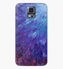 SCALES OF A DIFFERENT COLOR - Abstract Acrylic Painting Eggplant Sea Scales Ocean Waves Colorful Case/Skin for Samsung Galaxy