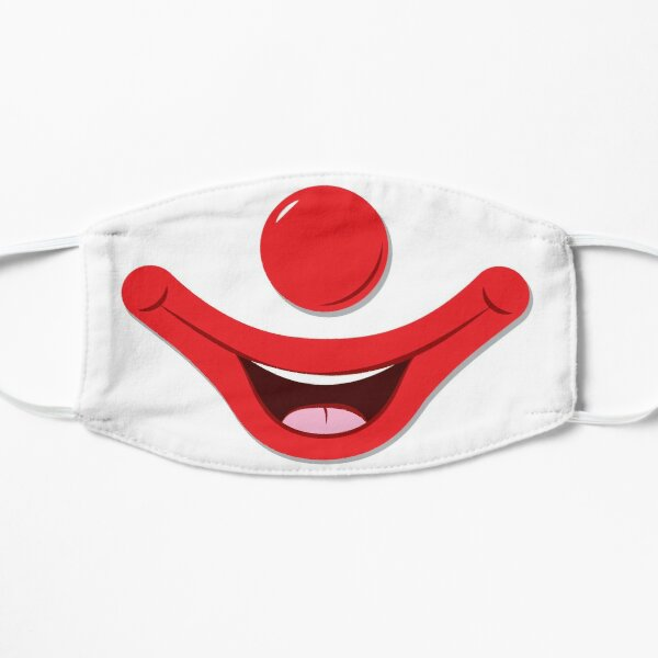 Clown Face Flat Mask