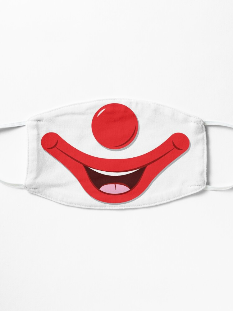 Alternate view of Clown Face Mask