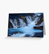 The Blue Waterfalls Greeting Card
