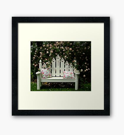Sit Here & Smell The Roses Framed Print