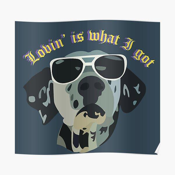 Lovin' is what I got, Lou Dog Poster