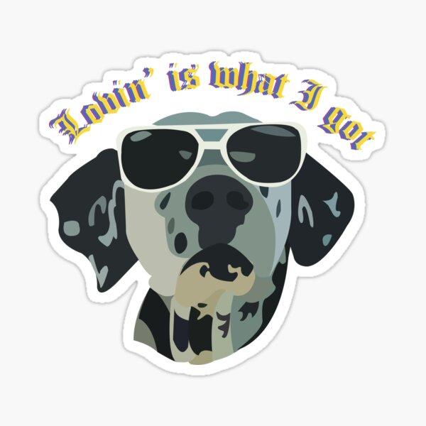 con un Lou Dog vectorizado (el mejor miembro de la banda) Pegatina