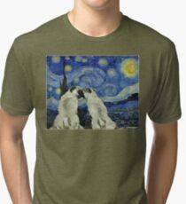 Sternennacht Pugs Vintage T-Shirt