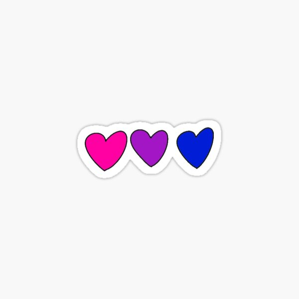Bisexual Bride Flag Heart Stickers Sticker