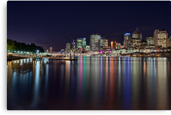 Lights of the City - South Bank, Brisbane NSW by Malcolm Katon