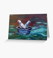 Don't get your feet wet! Greeting Card