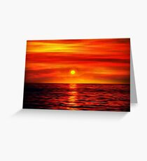 Sunset 10 Greeting Card