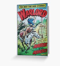 Warlord - Masters of the Mongols Greeting Card