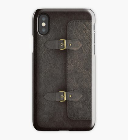 Black Leather Satchel  iPhone Case