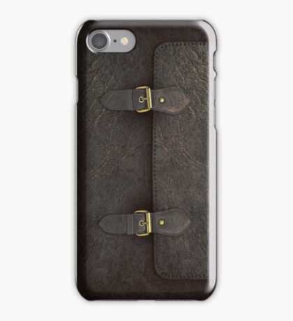 Black Leather Satchel  iPhone Case/Skin