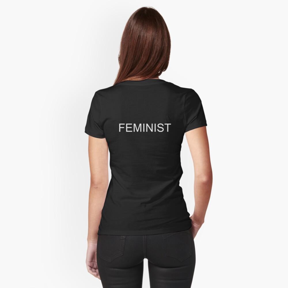 FEMINIST T-Shirt White on Black Fitted T-Shirt