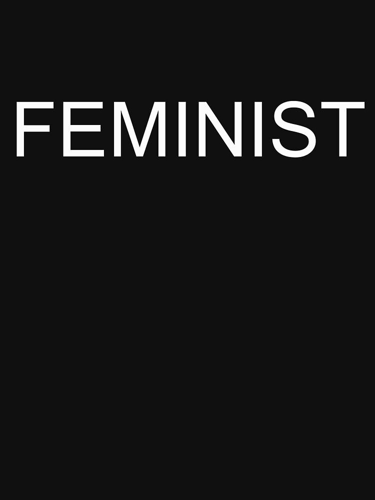 FEMINIST T-Shirt White on Black by lollly