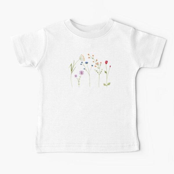 Wildflower Watercolour Tatra Cottage Baby T-Shirt