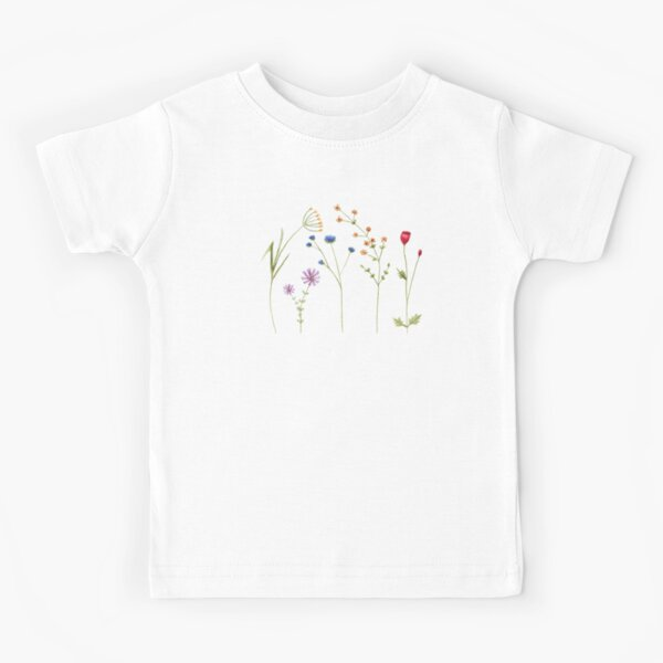 Wildflower Watercolour Tatra Cottage Kids T-Shirt