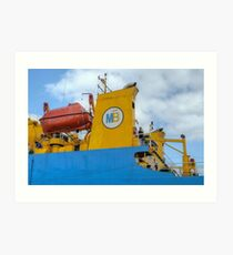 The MailBoat docked at Potter's Cay in Nassau, The Bahamas Art Print