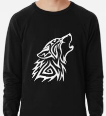 Tribal Wolf Howl - Blanco Sudadera ligera