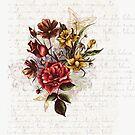 Colorful Vintage Romantic Floral Design by artonwear