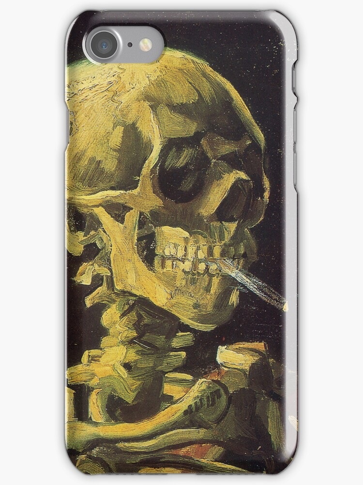 Van Gogh iPhone 5 Case - Skull with Burning Cigarette by VanGoghCases