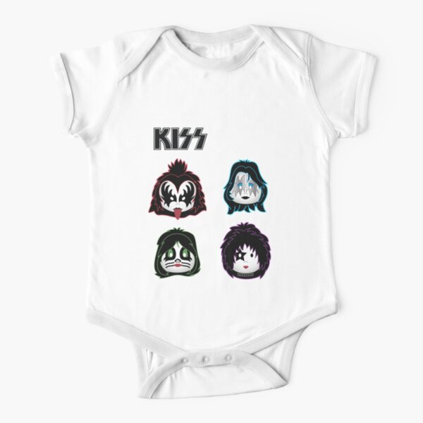 Kiss Band - Solo - Cute design for kids Short Sleeve Baby One-Piece