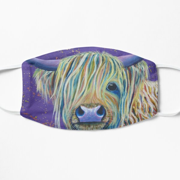 Woolly Bully (Cow) Flat Mask