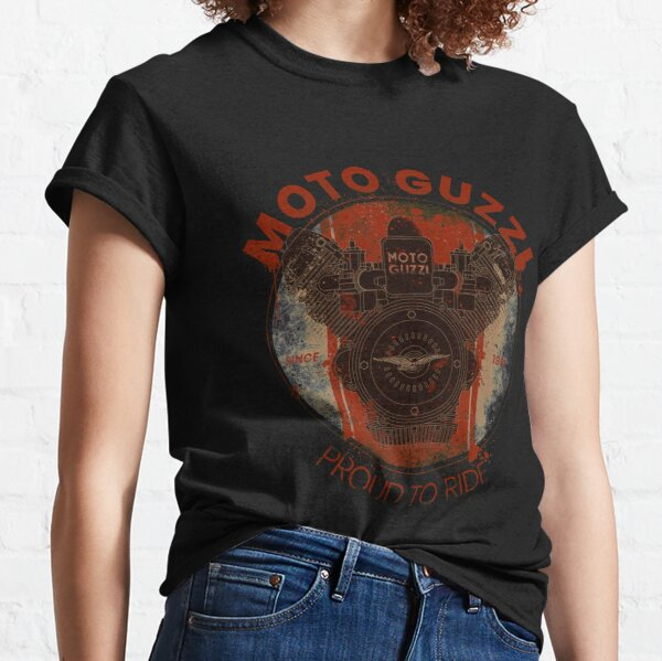 Proud to ride - MG V-Twin Italian engine T-shirt classique