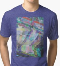 Glitch art 1/6 Tri-blend T-Shirt