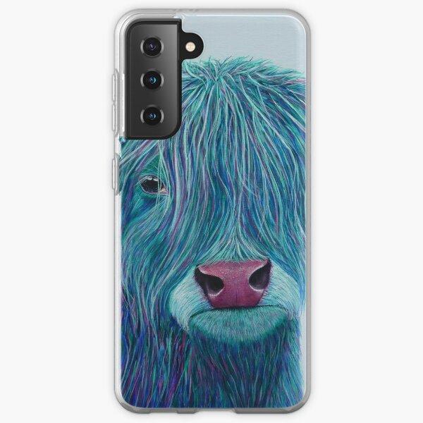 Bluebell the Highland Cow Samsung Galaxy Soft Case