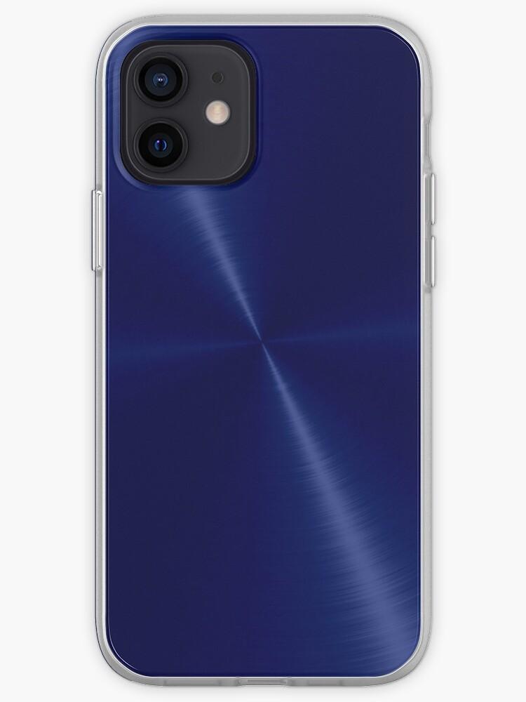 Acier inoxydable brillant bleu marine en acier | Coque iPhone