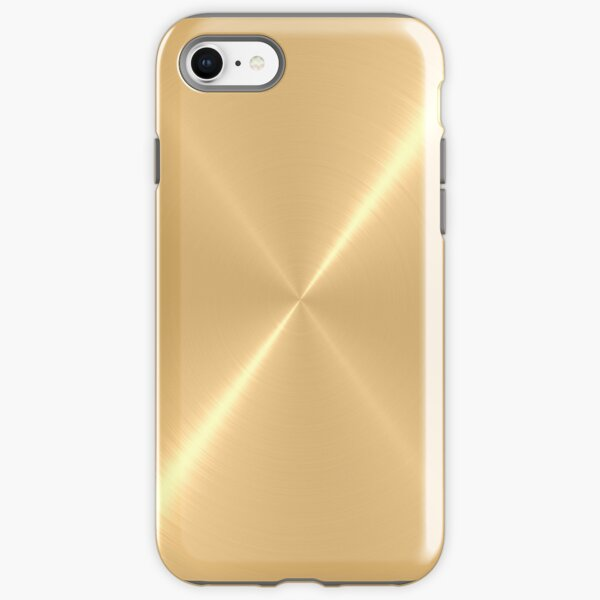 Gold Stainless Shiny Steel Metal iPhone Tough Case