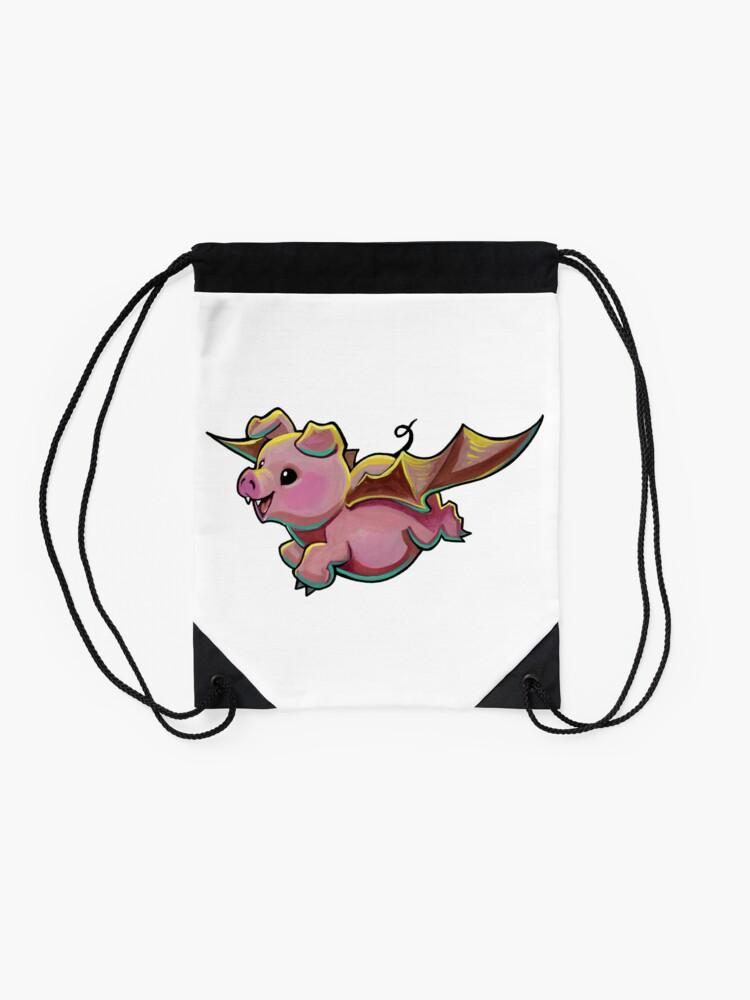 Alternate view of Count Porkula Drawstring Bag