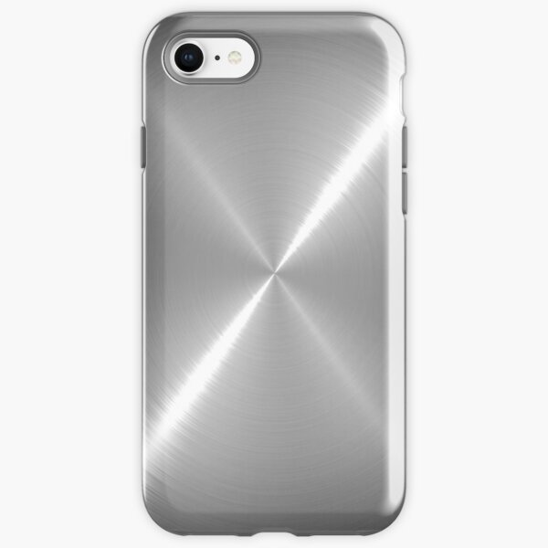 Silver Stainless Shiny Steel Metal iPhone Tough Case