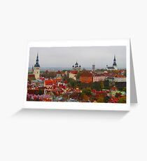 Atop Turreted Tallinn Greeting Card