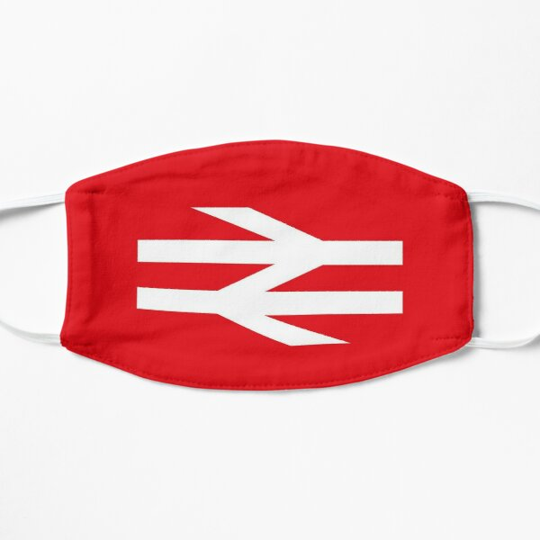 red British rail logo Flat Mask