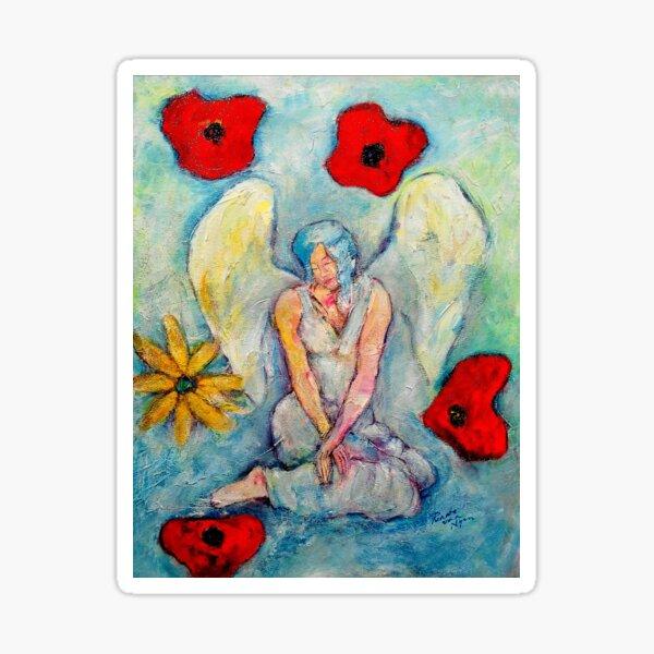 Celine, Angel image part of an Angel oracle card deck - Renate van Nijen Sticker