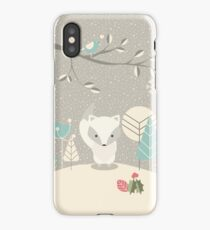 Christmas baby fox 07 iPhone Case/Skin